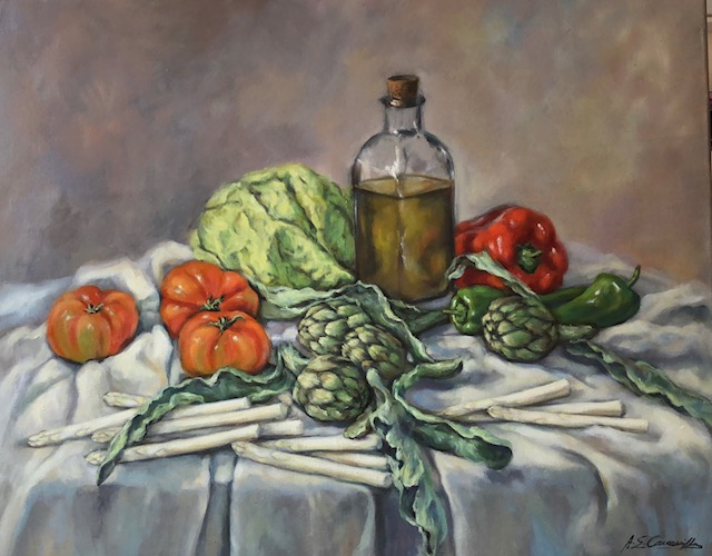 Verduras con el oro líquido